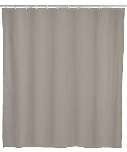 Allstar Duschvorhang Zen Taupe - wasserabweisend, leicht zu pflegen, Polyethylen-Vinylacetat, 120 x 200 cm, Taupe