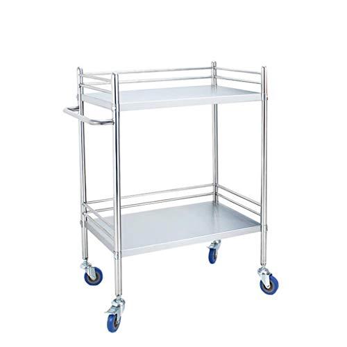 PIGE-Multifunktionswagen - Beauty Rack Pflegewagen aus Edelstahl, super tragend, Riemenscheibe, breiter Schreibtisch.