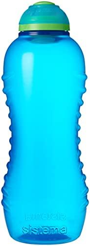 Sistema Water Bottle | Twist 'n' Sip Sports Water Bottle | 460 ml | BPA-Free | Blue