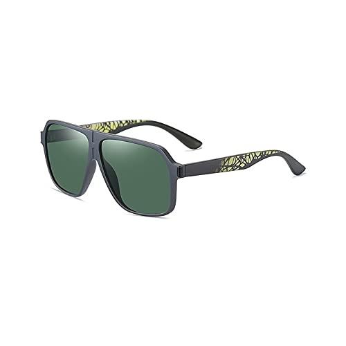 YUZHUKKKPYZ Gafas de sol polarizadas NSMJ para hombre, polarizadas, para conducir, gafas de sol, ciclismo, correr, pesca, golf, marco irrompible (color: verde)