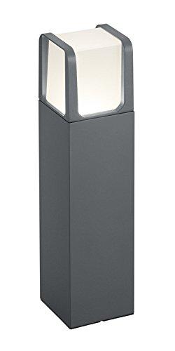 Trio Leuchten 522160142 Ebro A+, LED Außen-Pollerleuchte, Aluminium, 6 Watt, Integriert, Anthrazit, 10 x 10 x 40 cm