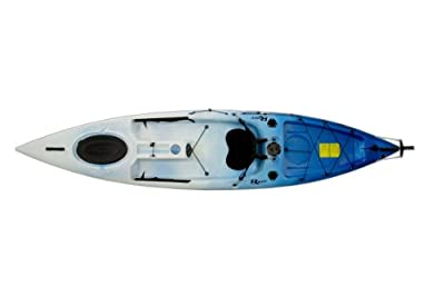 Escape 12 White/Blue Riot Kayks 12ft Sit-On-Top Flatwater Recreational Kayak