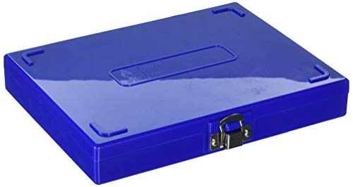 VWR 82003-406 Microscope Slide Boxes, 100-Place, 22.2 cm Length, 17.1 cm Width, 3.3 cm Height, Blue (Pack of 1)
