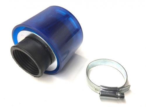 Tuning Sport Luftfilter Blau Rund 35mm für Roller/Scooter Yamaha Aerox/MBK Nitro
