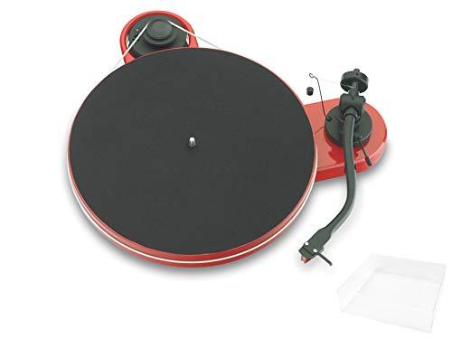 Pro-Ject RPM 1.3 Genie, Audiophiler Plattenspieler mit 2M Red und Abdeckhaube, Rot