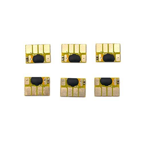 WSCHENG 5 Sets Chip Compatible con HP72 para HP 72 para HP DesignJet T610 T620 T770 T790 T1100 T1120 T1200 T1300 T2300 Cartuchos de Tinta de Recarga