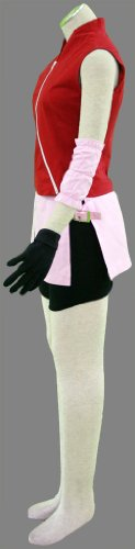 『BS022 NARUTO -ナルト- cosplay コスプレ衣装 コスチューム ♥春野サクラ 二代目 疾風伝 5点セット001-C22 (M)』の2枚目の画像