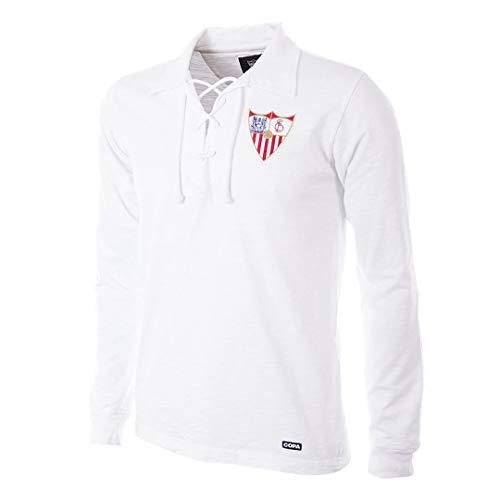 copa FC Sevilla Retro Trikot Langarm 1945/46 weiß weiß, M