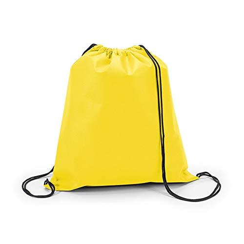 Kordelzugtasche Tasche Rucksack Kinder Turnbeutel Beuteltasche von notrash2003 (Gelb)