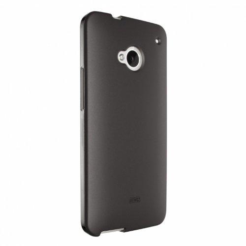 Artwizz TPU Hülle Handyhülle designed für [HTC One] - Schlanke Schutzhülle mit Matter Rückseite und Schwarz-glänzendem Rahmen - Schwarz