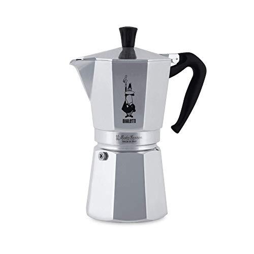 Bialetti Moka Express Espressokocher, Aluminium, Silber, 12 Tassen