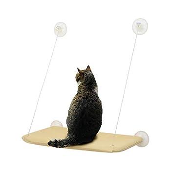 🐱 Dimension du Hamac de Fenêtre pour Chat: 55*35cm. Largeur du Verre: ≥60cm, Hauteur du Verre: ≥75cm. Convenable à la plupart des chats.Cet hamac économise l'espace. 🐱 Matériau du Hamac de Fenêtre pour Chat: PP, tissu en oxford, fil d'acier, et pvc, ...