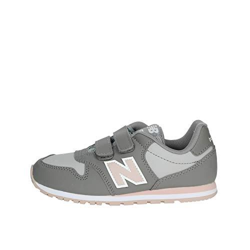 New Balance 005, Sneaker Unisex-Bambini, Grigio (Grey/Pink PG), 28 EU