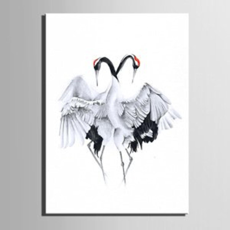 RUNDESHEBEI Y&M Rot-gekrönter Kran dekorative Malerei, rahmenlose Malerei, einzelnes Wohnzimmer Restaurant Dekoration Malerei, 50  70 B071JLX99L  | Nutzen Sie Materialien voll aus