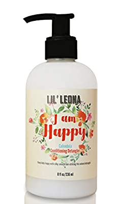 Lil Leona All Natural Kids Conditioner & Detangler (Calendula) - Gentle Tear Free No More Tangles for Curly Hair. Baby Conditioner for Infants, Toddlers and Kids of All Ages - 8 fl oz
