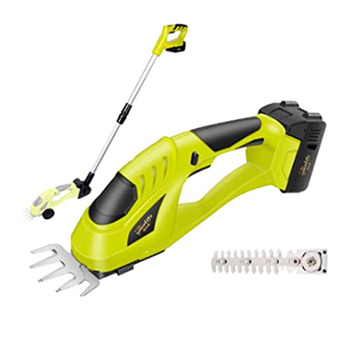 JmeiYyu Walk-Behind Lawn Mowers,Cordless String Trimmer,Electric String Trimmer,2-in-1 Electric Hand Held Grass Shear Hedge Trimmer Shrubbery Clipper Cordless Battery Powered Rechargeable