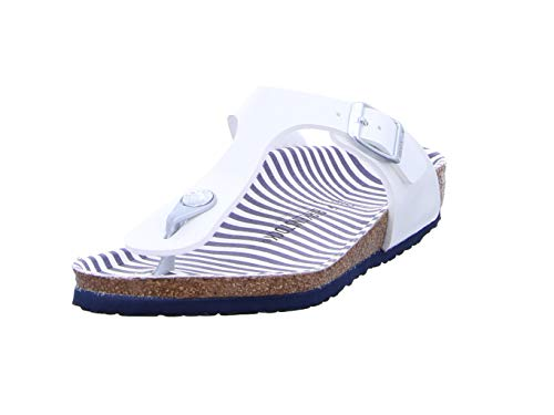BIRKENSTOCK Gizeh Mädchen Sandalen Nautical Stripes White, EU 33