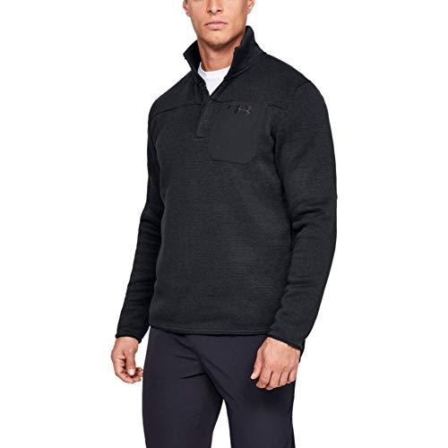 Under Armour Men's Specialist Henley 2.0 1/4 Zip T-Shirt , Black (001)/Charcoal , Large