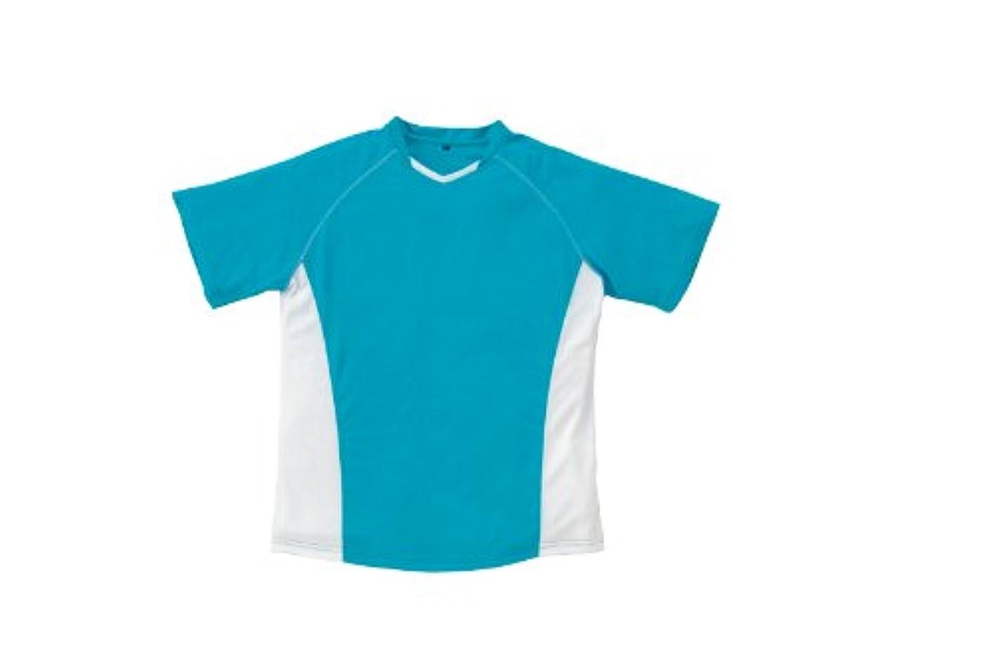 キネマティクスキャスト熱心なSOWA(ソーワ) 半袖ツートンTシャツ ターコイズ Lサイズ 50403
