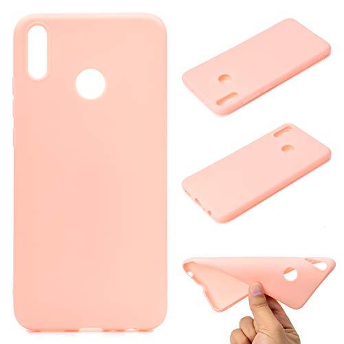 LeviDo Coque Compatible pour Huawei Honor 8X Étui Silicone Souple Bumper Antichoc TPU Gel Ultra Fine Mince Caoutchouc Bonbons Couleurs Design Etui Cover, Rose