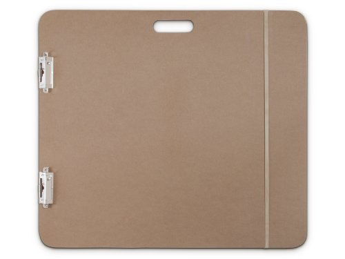 Saunders 05607 Recycled Hardboard Sketchboard - Brown, 23 in. x 26 in. Clipboard with Built-in Handle - Solid Drawing Board for Artists, Students, and Creatives