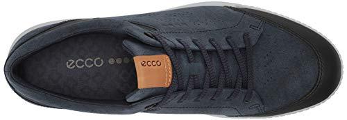 ECCO Men's Street Retro Hydromax Golf Shoe, Marine Camel Nubuck, 6-6.5
