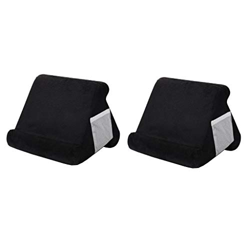 FLAMEER 2pcs Multi Angle Tablet Stand Holder Reading Bed Cushion for IPad