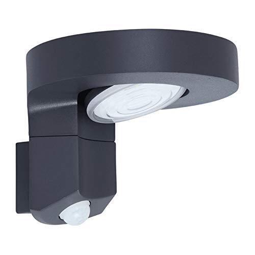 LED Applique Solaire,Style Minimaliste Moderne IP65 Etanche sans Fil Luminaire Exterieur,PIR Détecteur De Mouvement,Tête De Lampe Réglable À 90 °,Lumière Blanche Chaude Cour Villa Lumière