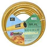Wurko - Manguera Malla Amarilla 15 mm 6 Bar, Rollo 50 Metros
