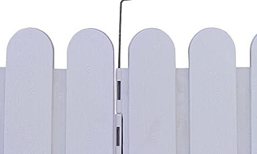 COMERCIAL CANDELA FELPUDOS Y ALFOMBRAS Valla para Jardín Plástico PVC Diseño Arco para Decoración y Proteger los Bordes del Césped, Patio o Jardineras en Tierra 4 Unidades (Blanca)