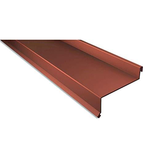 Sohlbank   Kantteil   Material Stahl   Stärke 0,75 mm   Beschichtung 25 µm   Farbe Kupferbraun