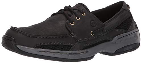 New Balance Dunham by Men's Captain Boat Shoe, Black, 45 2E EU