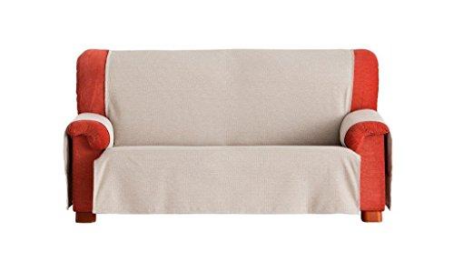 Eysa Constanza Nicht elastisch Sofa überwurf 4 sitzer, Baumwolle, 01-leinen, 37 x 7 x 29 cm