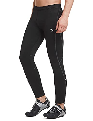 BALEAF Men's Thermal Running Tights Athletic Cycling Pants Fleece Cold Weather Outdoor Black Size XXXL
