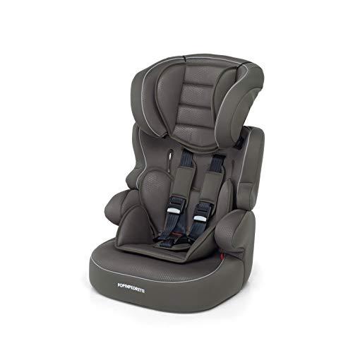 Foppapedretti Babyroad - Seggiolino Auto, Gruppo 1-2-3 (9-36 Kg) per Bambini da 9 Mesi a 12 Anni Circa, Marron Glace