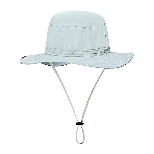 19821 RUIRUI Pescador Hat Sunscreen UV Protección Transpirable Montañismo Sombrero de Pesca al Aire Libre Summermen y Mujeres (Color : D)