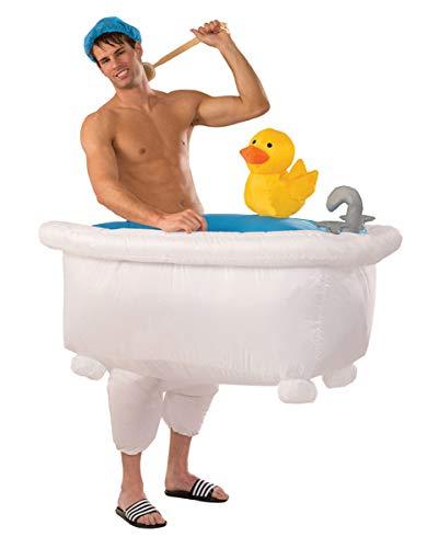 Horror-Shop Aufblasbares Badewannen Kostüm für den Faschingsball