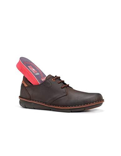 Fluchos   Zapato de Hombre   Alfa F0700 Desert Castaño Zapato   Zapato de Piel de Vacuno engrasada de Primera Calidad   Cierre con Cordones   Piso de Goma dotado de tecnología Institch