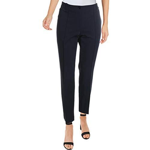 Basler - Pantaloni da donna a vita alta casual a gamba dritta - blu - 48