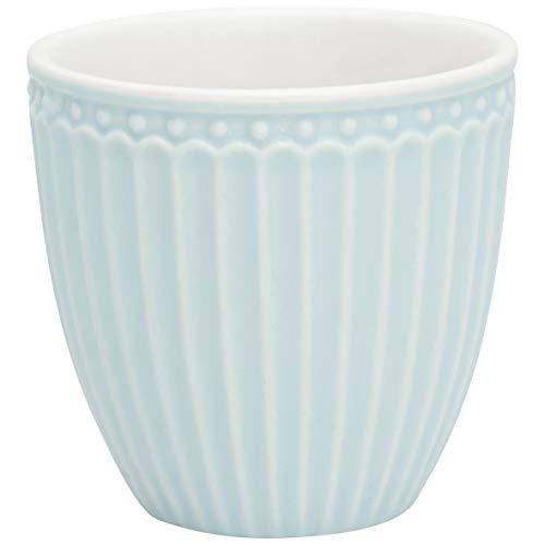 GreenGate - Becher, Tasse, Kaffeetasse, Mini Latte Cup - Alice - Porzellan - Blue - 125 ml