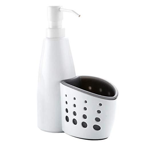 ZSDSX Bomba Dispensadora De Jabón De Cocina 2 En 1 Y Botella De Dispensador De Jabón Líquido del Organizador De La Esponja