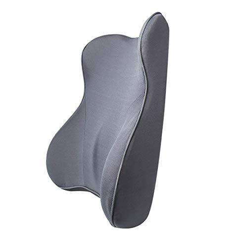 Fondello per auto Un paio di cuscini for sedili for auto, cuscinetti ergonomici di supporto lombare for sedili for auto, deformazione resistente e cotone traspirante. ( Color : Black )