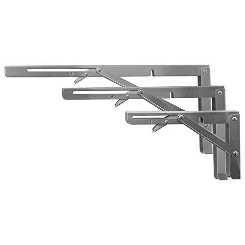 Schwerlast Regalträger klappbar in Edelstahl in 5 Grössen auswählbar bis 120kg (400mm)