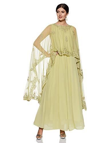 BIBA Women's Synthetic Salwar Suit Set (SKD5676_Mint Green_L (36))