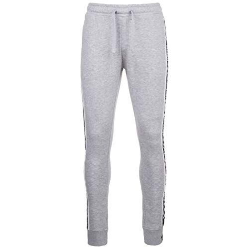 UMBRO Taped Fleece Jogginghose Herren grau/weiß, S (44/46 EU)