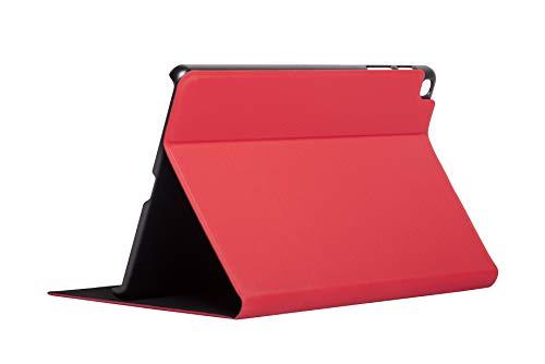 Silver HT - Funda Bookcase Wave con función soporte para tablet Samsung Tab A 2019 10,1 pulgadas (modelos T510 y T515), Ligera y Delgada. Rojo