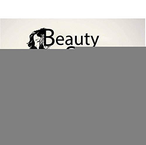 Salón De Belleza Etiqueta De La Pared Tijeras Salón De Belleza Decoración Vinilo Art Deco Barbería Etiqueta De La Pared 75 * 42Cm