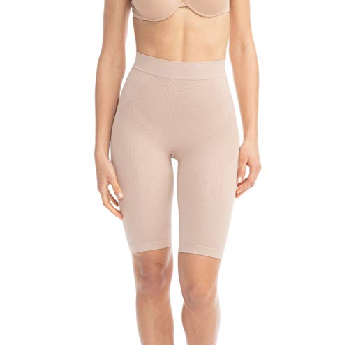 Farmacell 312 (Beige, L/XL) Figurformende massierende Miederhose Anti Cellulite
