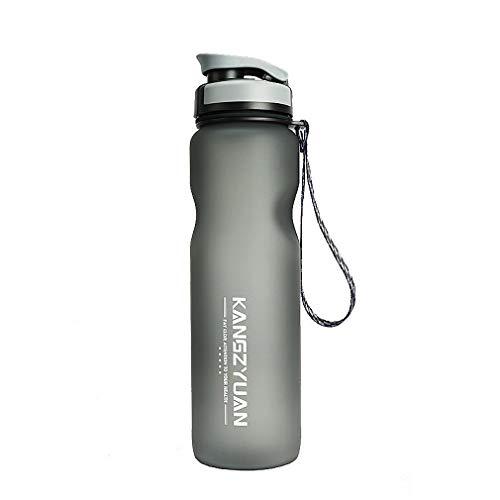 Botella deportiva, botella de bebida con marca y filtro, tapón de un clic, completamente libre de BPA, botella deportiva no tóxica y ecológica adecuada para gimnasio, senderismo, ciclismo