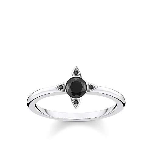 Thomas Sabo Damen-Ring Schwarze Steine silber 925 Sterlingsilber TR2268-643-11-54